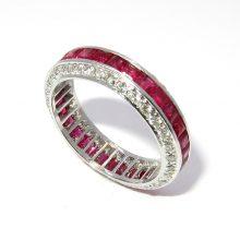 ルビー プラチナ ダイヤモンドリング