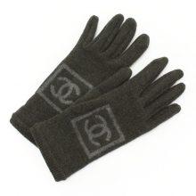 シャネル 手袋 ココマーク グレー