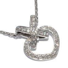 ショーメ ハートモチーフ ダイヤ ネックレス 買取価格170,000円