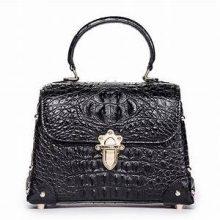 クロコダイル ハンドバッグ ブラック 金具 買取価格9,000円