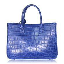 クロコダイル ハンドバッグ ブルー 買取価格15,000円