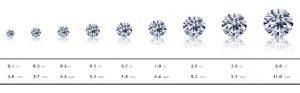 宝石 ダイヤモンドは 石の大きさで買取価格は変動する。