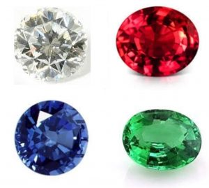 ダイヤモンド ルビー サファイア エメラルドは高く買取が可能