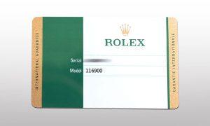 ロレックス保証書
